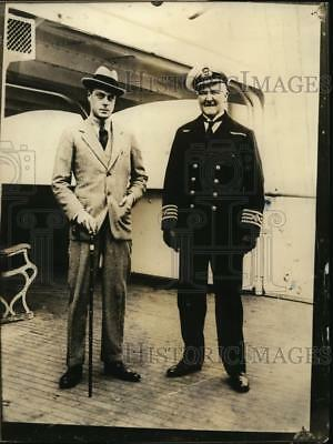 1923 Press Photo The Prince of Wales & Capt E Griffins on SS Empress of France