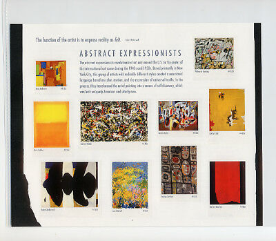 4444 Abstract Expressionists 44c Mini Sheet