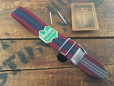 """16mm 5/8"""" Perlon New Old Reversible Military-Type 1960s/1970s Vintage Watch Band"""