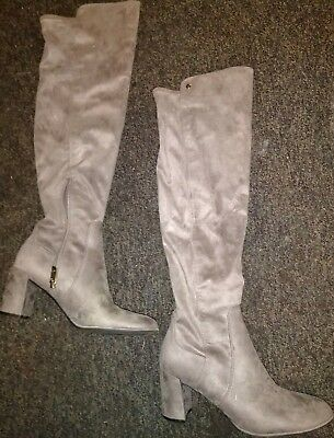 d738e52073a Liz Claiborne Leyla Womens Over the Knee Boots Size 9 Taupe