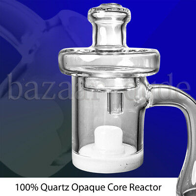 100% Quartz Opaque Core Reactor Banger & Carb Cap | 14mm 18mm Female & Male