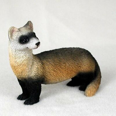 "NEW Ferret Ferrit 4.5"" in. Figurine Sculpture Statue Life Like Realistic CC-AF56"