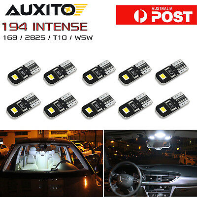 AUXITO 10PCS CANBUS T10 Wedge 2SMD Parker Number LED Bulbs W5W 194 168 131 White