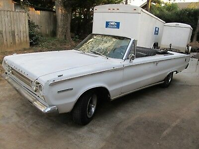 1967 Plymouth Belvedere  1967 Plymouth Belvedere Convertible 318 3 Speed Manual Column NICE PROJECT