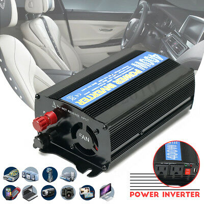 Car Auto Power Inverter 400W 12V DC to AC 110V Converter Adapter USB Charger