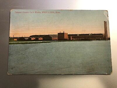 1907 Color Postcard—MASSACHUSETTS—West Lynn—General Electric Co's Works