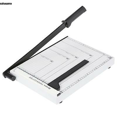 A4 to B7 Commercial Heavy Duty Paper Cutter Guillotine Photo Trimmer Steel US