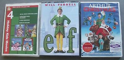 New Lot 3 ELF Arthur Christmas MGM MOVIE COLLECTION HOLIDAY MOVIES DVD