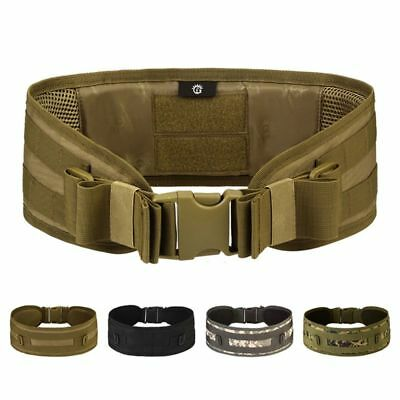 Tactical Military Outdoor Hunting Airsoft Molle Combat Waist Padded Web Belt US