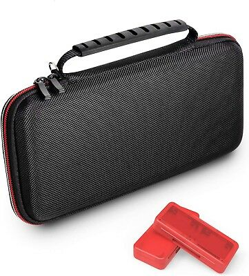 Nintendo Switch Carrying Case Hard Shell Pouch Travel Bag with 2 Game Card Cases