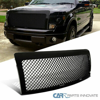 2012 F150 Grill >> Ford 09 14 F150 F 150 Pickup Glossy Black Mesh Style Front