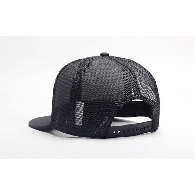 685717bb6fd Trucker Hat Mesh Snapback Plain Baseball Cap Adjustable Flat Blank Men Caps  Hats