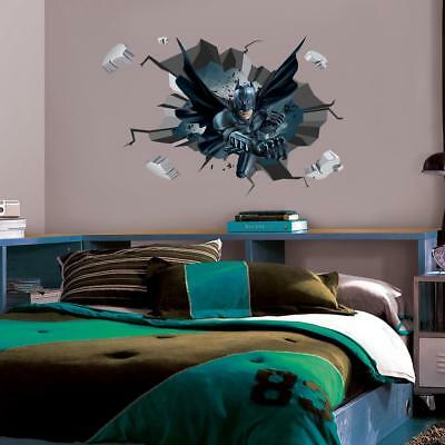 BATMAN Decal 3D Smashed Wall Sticker Decor Art Mural Super Hero Comics WC164 70baffa6eb2