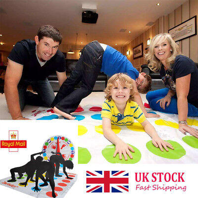 Funny-Twister The Classic Family Kids Children Party Body Game With 2 More.Moves