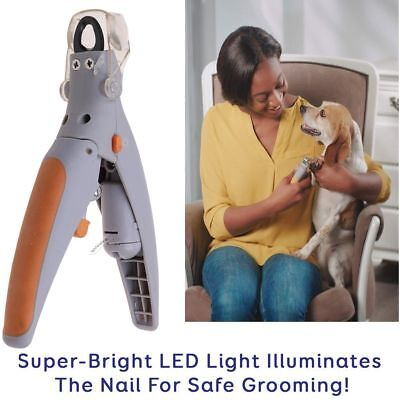 Pet Nail Trimmer Cats Dogs Clipper LED Light Illuminated Grinders for Peti Care
