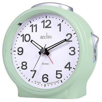ACCTIM Elsie Sweep Alarm Clock with Luminous Hands and Silent Tick | Duck Egg
