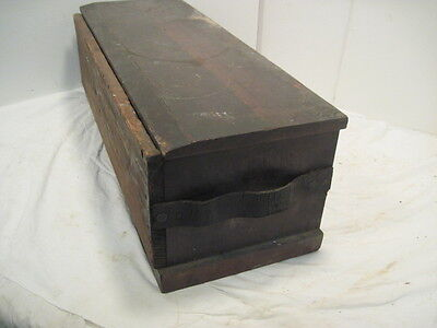 Old Vintage Wood Hinges & Butts For All Doors Box Crate Tool Box Solid