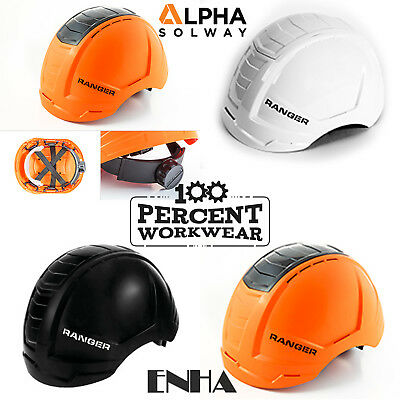Alpha Solway ENHA Ranger Work Safety Helmet Hard Hat Vented Industrial EN397 New