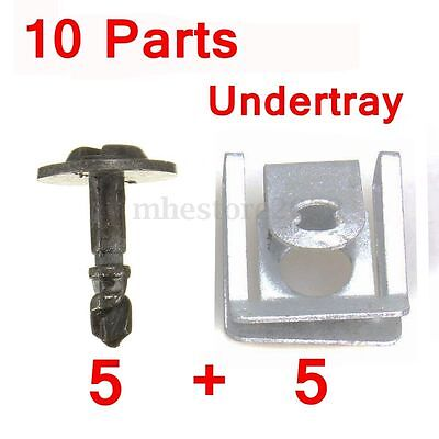 5 Pairs Engine Undertray Clips Splashguard Clamps Shield Cover For BMW E38 E39