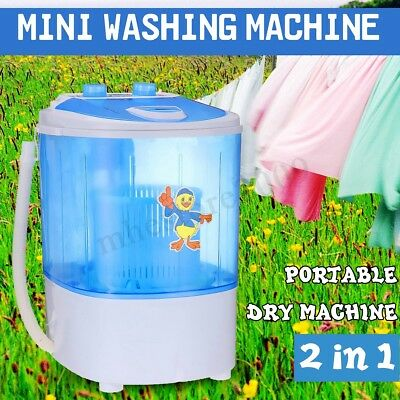 Portable Mini Washing Machine Compact Washer Spin Spinner + Dehydration