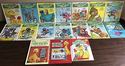 Sesame Street Treasury Library Dictionary Volume Set of 17 Different Hardcovers
