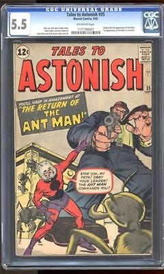 Marvel TALES TO ASTONISH 35 FN- 5.5 CGC 1st ANT-MAN Costume GIANT MAN AVENGERS