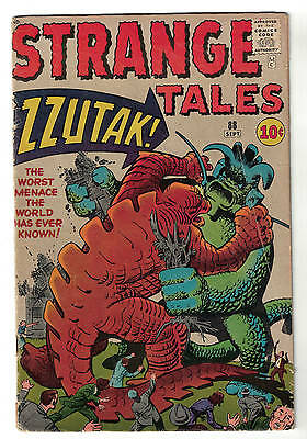 Strange tales  Marvel comics 88 VG- 3.5 1961  Atlas Zzutak worse menace