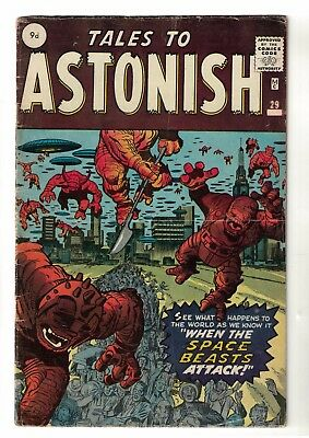 MARVEL COMICS TALES TO ASTONISH  29 VG 4.0  1962 Space Monster