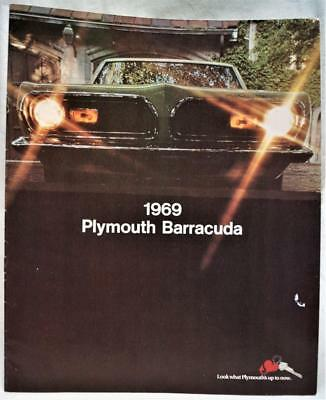 1969 Plymouth Barracuda Automobile Car Advertising Sales Brochure Guide Vintage