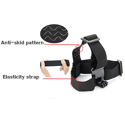 For GoPro Hero 5 4 3 Accessories SJCAM Elastic Head  AdjustableStrap Mount Belt
