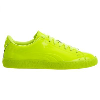 8367c6bd6f869b Puma Basket Classic Patent Emboss Mens 362035-02 Safety Yellow Shoes Size 10