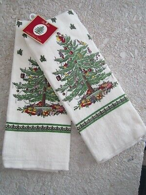 Spode Christmas Tree Set of 2 Kitchen Towels   / NWT