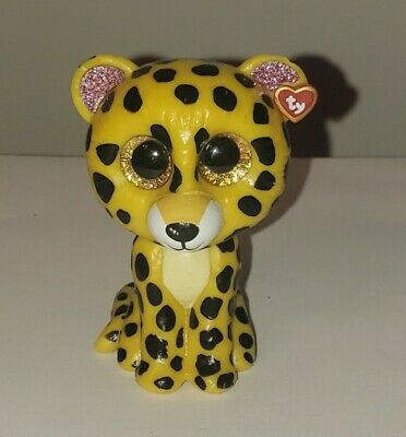 TY Mini Beanie Boos Series 2 TASHA Leopard Vinyl Figure Hand Painted 2018 NEW