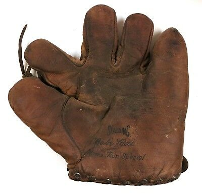 Vintage Babe Ruth Spalding Home Run Special Player Model Glove
