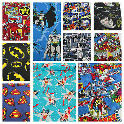 Marvel DC Comics - batman, avengers, hulk - superhero 100% cotton fabric