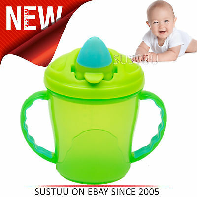 Vital Baby Free Flow Cup with Soft Flip Spout│Kid's Anti-Spill Travel Mug│Green