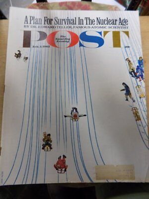 Vintage Magazine~Saturday Evening Post~Feb. 3, 1962~Survival In Nuclear Age