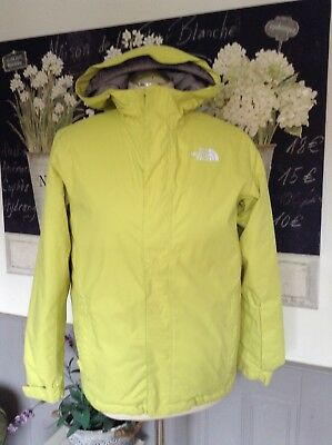 0e310fb139 The North Face Bright Yellow Jacket Padded Inner Girls Age 14-16 Or Uk 8