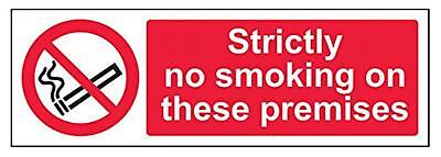 "VSafety 57011AX-S""Strictly No Smoking On These Premises"" Prohibition Sign,..."