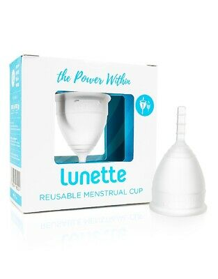Lunette Menstrual Cup Clear Size 1 FREE SHIPPING Made in USA