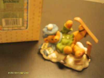 Cherished Teddies .. SPENCER - boy fallen down with skis- head over skis for you
