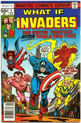What If 4 Nm- 9.2 High Grade Invaders Captain America Marvel Bronze Age 1977 Bin