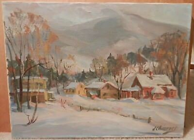 OLD Impressionist Fine Art OIL PAINTING vintage original artwork Listed Artist