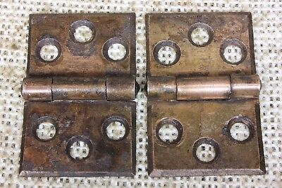 2 door interior shutter Hinges old vintage rustic copper color 1 3/4 x 1 1/8""