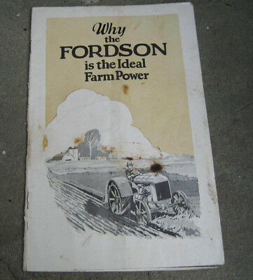1920's Ford Motor Co. Fordson Agricultural Tractor Brochure