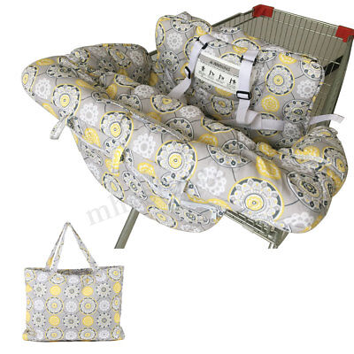 Portable Twin Baby Shopping Cart Cover Trolley Bag Cushion Pad Chair Safety
