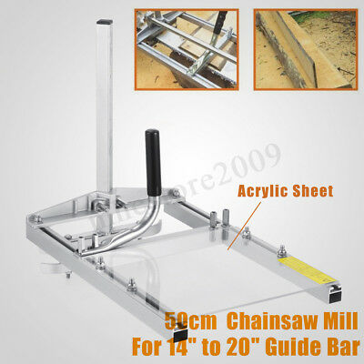 """20"""" Portable Chainsaw Mill Planking Milling Sawmill From 14'' to 20'' Guide"""