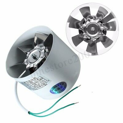 4'' Inline Ducting Fan Booster Exhaust Blower Air Cooling Filter Vent Metal
