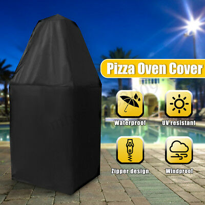 Outdoor Pizza Oven Cover Charcoal Fired Bread Oven Smoker BBQ Grill Rain