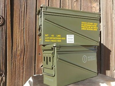 2 Pack PA120 40mm Ammo Cans Ammunition Box MK19 Surplus Storage Container
